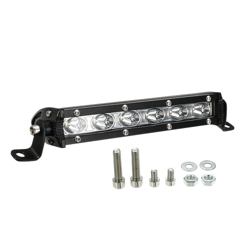 7inch 18W LED Light Bar Spot Beam Work Light Вождение Fog Light Road Lighting для Jeep Car Truck SUV Boat Marine