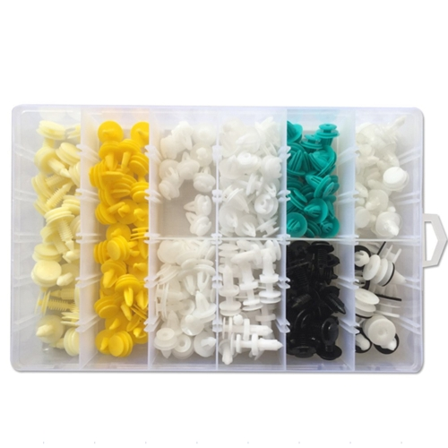 210PCS Car Fastener Box Universal Auto Vehicle Door Panels Retainer Bumper Clips Plastic Nylon Fender Liner Cars Rivet for Ford/BMW/Chevrolet/Porsche/Benz