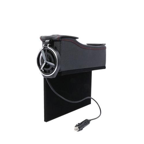 Double USB Port Multifunction Leather Catcher Box Assento de carro Cup Coil Pocket Storage Organizer