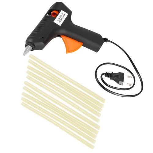 Hot Melt Glue Gun Paintless Dent Repair Tool +10pcs Glue Sticks
