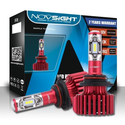 NOVSIGHT  Led 9005/HB3 Car Led Headlights Hi/lo Beam 9005  HB3 60W 10000LM Fog Light Lamps Bulbs