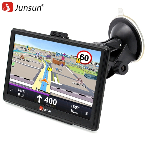 Junsun multifunções carro multi-media player de navegação gps com mapas gratuitos da europa