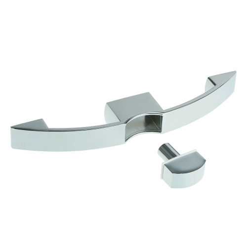 160/128 Holespacing Arc Button Pull Lock Tipo de tirón Muebles Armario Puerta Muebles Armario Cerradura de puerta para RV
