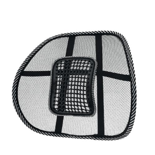 Universal de malla portátil negro de malla de masaje de la cintura del coche en la espalda Soporte de apoyo cómodo de conducción