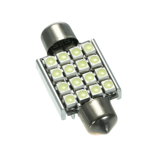 Lâmpada interior das ampolas do diodo emissor de luz do festão da abóbada do carro do branco 12V 36mm 16 SMD 3528