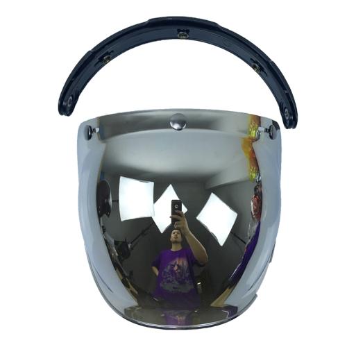3-Snap Bubble Wind Shield Visor для мотоциклетного шлема Biltwell Gringo & Bonanza