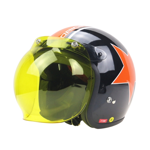 3-Snap Bubble Visor Shield Universal 10 Color Opt & Flip Up Adaptador Casco Snaps