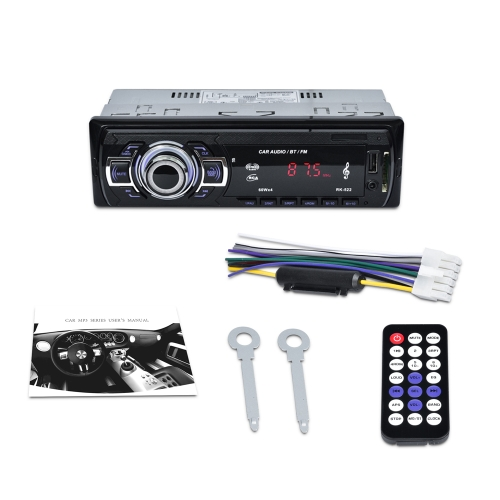 BT Car Multimedia rádio MP3 Player Com SD / USB / AUX IN FM 12 V Rádio Controle Remoto Sintonizador