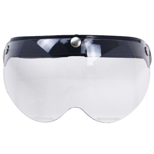 Visor à prova de vento universal da motocicleta 3-Snap viseira (transparente)