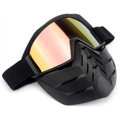 Image of Bike Motorrad Gesichtsmaske Goggles Motocross Brillen Motorrad Open Face Abnehmbare Goggle Helme Vintage Brille