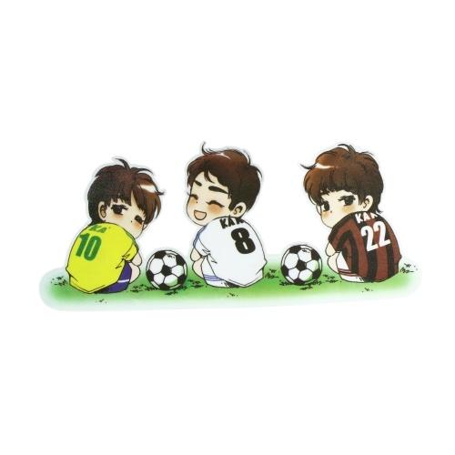 Quelima 1Pc Cute Cartoon Waterproof  Football Pattern Car Sticker