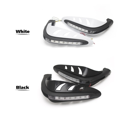 KKmoon 1 Pair Universal Motorcycle Handguards Motocross Hand Guards One Set Combination Handlebar Protector With LED Turn Signals Light