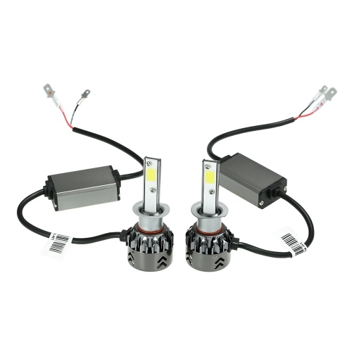Mini Car LED Headlight Bulbs Conversion Kit H1 60W 6000K 9600LM All-in-One Car Headlamp White