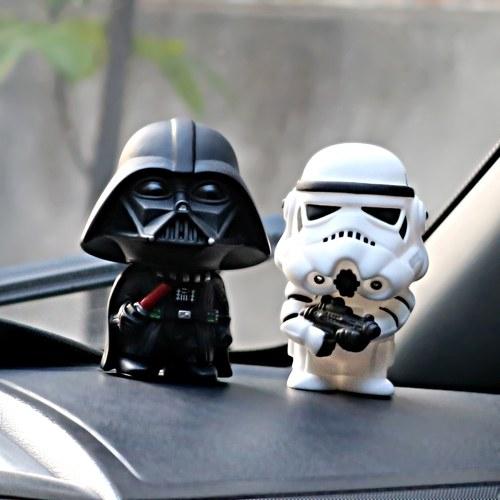 Auto Ornament Nette Star Wars Action Darth Vader Abbildung Puppe Autos Modell Dekoration Geschenke