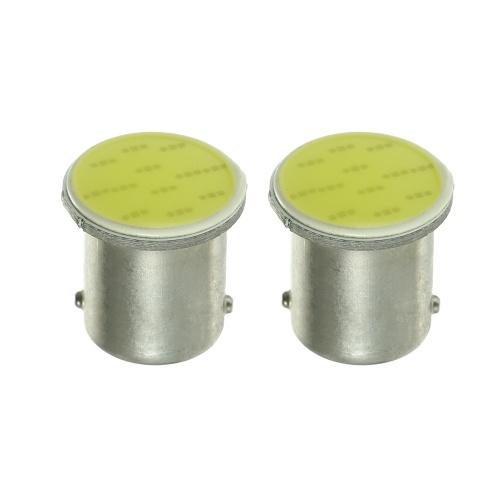 1156 12SMD COB Белый светодиодный индикатор поворота / резервная лампа, 2 упаковки