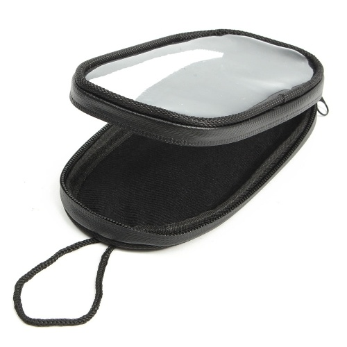 Bolsos negros de la moto de la prenda impermeable del bolso de la navegación del teléfono de la motocicleta para el teléfono móvil de la pantalla táctil