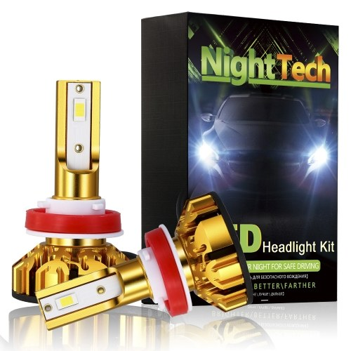 NightTech 2Pcs Car LED Head Light 48W 5200LM H4 LED Headlight Bulbs Waterproof IP68 Car Led Driving Lamp With High Beam Dipped Headlight Switching