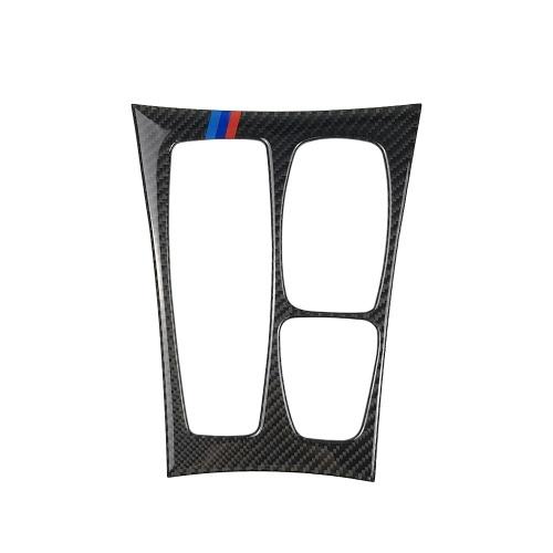 Cubierta decorativa de la etiqueta engomada del marco del ajuste del panel del cambio de marcha de la fibra de carbono para BMW E70 X5 E71 X6