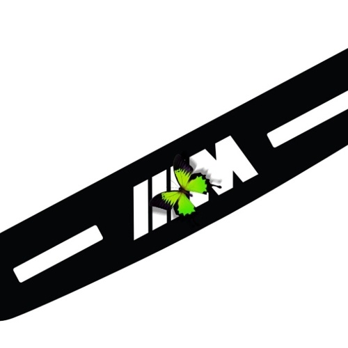 For BMW 5 Series High Brake Lamp 3 Series 7 Series Automotive Supplies Modified Interior Decoration Black Brake Light Sticker M Performance