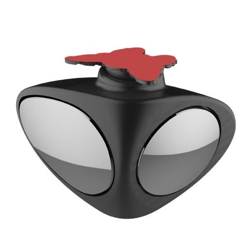 Espejo de punto ciego para automóvil 2 en 1 Espejo de ángulo ancho 360 Rotación