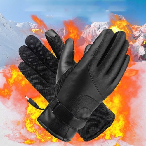 Winter Electric Thermal Glove Heated Gloves Warmer 48V