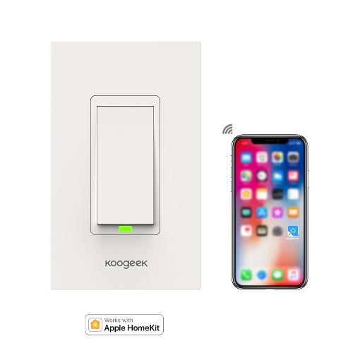 Koogeek Wi-Fi-fähiger intelligenter Lichtschalter funktioniert mit Apple HomeKit