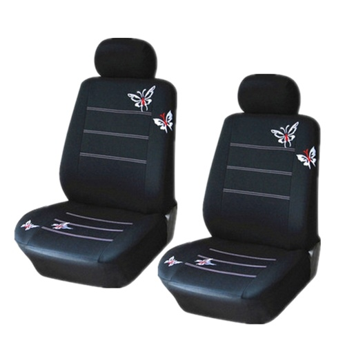 Universal Butterflies Butterflypattern Embroidered Car Seat Cover