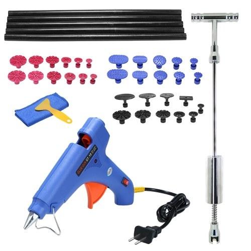 Kit de ferramentas Paintless Dent extrator Slide Martelo reparação remoção granizo Gun Glue