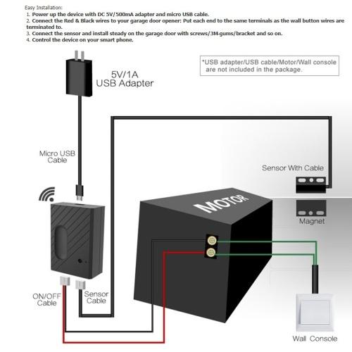 Ewelink WiFi Switch Контроллер гаражных ворот Для открывания гаражных ворот APP Пульт дистанционного управления Сроки Управление голосом Alexa-Google фото