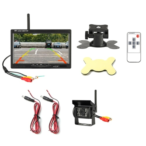 "9-36V 7 ""Kit telecamera per retrovisione Monitor 2.4G Display Monitor per visione notturna retromarcia"
