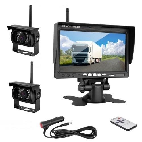 7インチカラーTFT LCDモニター車のリアビューモニターバックミラーディスプレイスクリーン用車両バックアップカメラ自動駐車支援システム