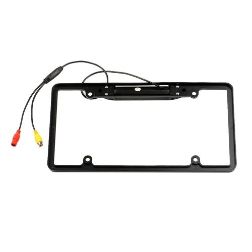 Рамка номерного знака США резервная камера заднего вида камера заднего вида ассистент парковки 8 ИК светодиод ночного видения водонепроницаемый