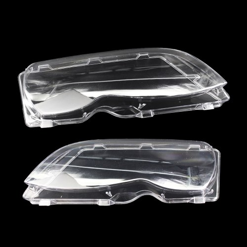 One Pair of Headlight Clear Cover Headlamp Lense Lens Front Headlamp Lens Replacemnt for BMW E46 3-series 4 Door 02-05