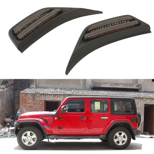 2Pcs LED Front Fender Side Marker Light Turn Signal Lamp Replacement for Jeep Wrangler JL