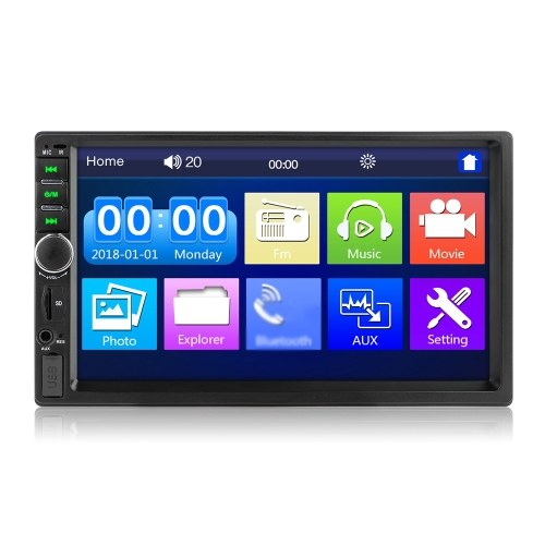"""2 Din Stereo Receiver 2din Car Radio Autoradio 7"""" Hd Touched Screen 12v Car Stereo Player Bt With Remote Control 7018B"""