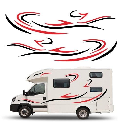 Car Auto Body Sticker Autoadhesivo Side Truck Graphics Calcomanías Ajuste para Camper Caravan RV Trailer