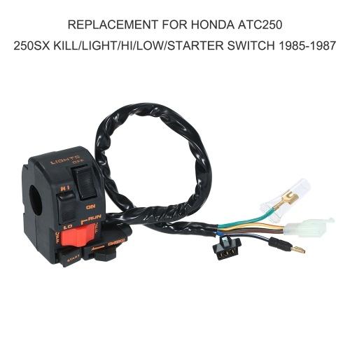 Replacement for Honda ATC250 250SX Kill/Light/Hi/Low/Starter Switch 1985-1987