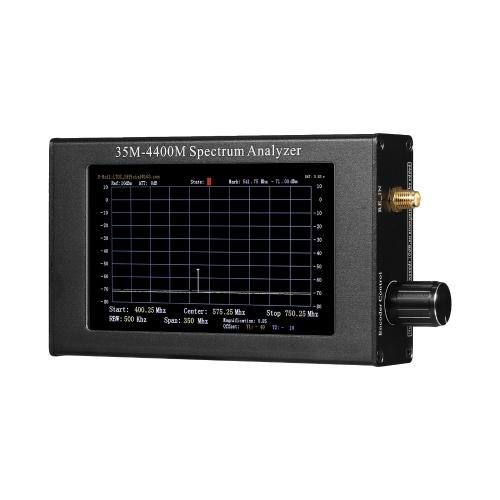 35-4400M USB-Spektrumanalysator Signalverfolgungsquelle Handheld Digitale Signalfrequenzanalyse Handfrequenzanalyse mit Aluminiumhülle