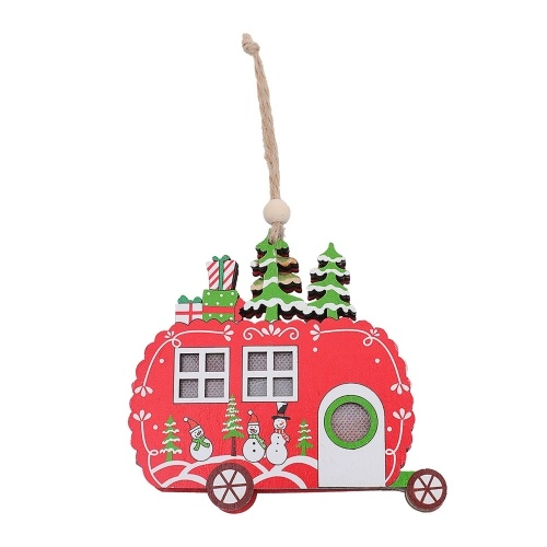 Christmas Wood Ornaments Tree Decorations Wooden Hanging Crafts Hanging Ornaments Car Inside Decor