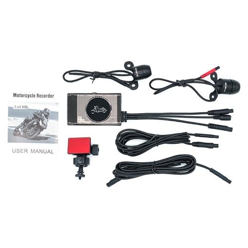 Мотоциклетный рекордер для вождения 1080P HD Водонепроницаемая двухобъективная камера Мотоцикл Dash Cam 3,0-дюймовый ЖК-дисплей Moto DVR Парковочный монитор Петля видео