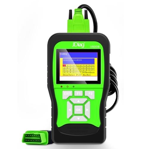JDiagV600B универсальный сканер OBDII / EOBD 3 в 1 VAG полный системный сканер автомобильный диагностический сканер автомобильный аккумулятор тестер коды считыватель инструмент