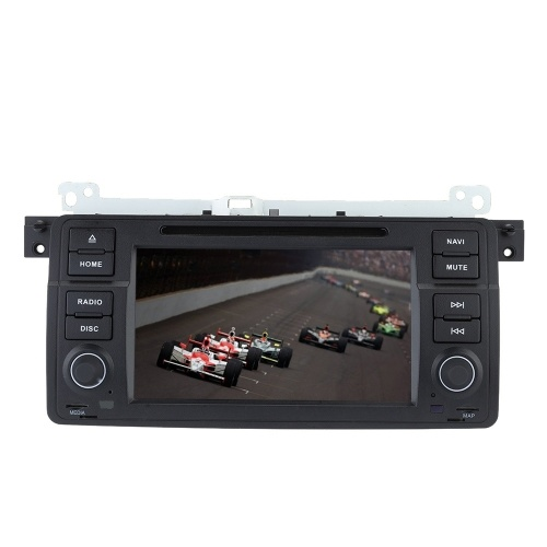 """7"""" tactile écran 2 Din voiture lecteur DVD GPS Navigation au tableau de bord voiture Radio Stereo PC chef unité pour BMW E46 série 3 M3 1998-2006 + carte gratuite, carte gratuite"""