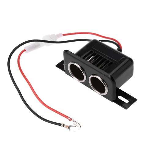Coche mechero Socket adaptador Splitter 2 puertos 12V