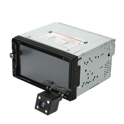 7 «универсальный 2 Din HD автомобиля BT стерео DVD проигрыватель USB/TF FM Aux вход ТВ Радио мультимедийные развлечения с HD камера заднего