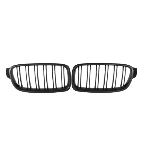 One Pair Front Matte Black Grille Grilles for BMW F30 F35 2012-2015