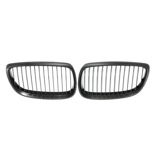 One Pair of Car Front Grille Carbon Fiber Decoration Grilles for BMW E92 2 Door 2006-2010