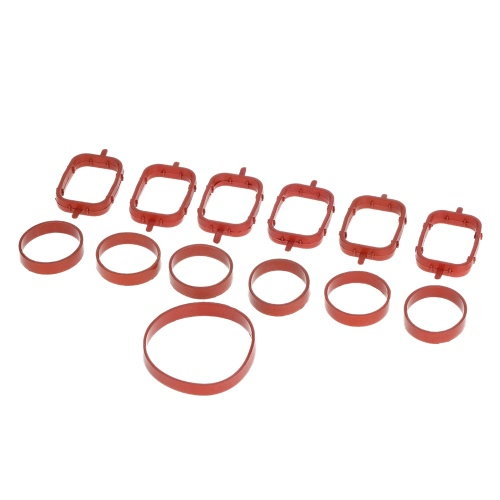 6 PCS Intake Manifold Gaskets Inlet Repair Kit for BMW 320d 330d 520d 525d 530d 730d