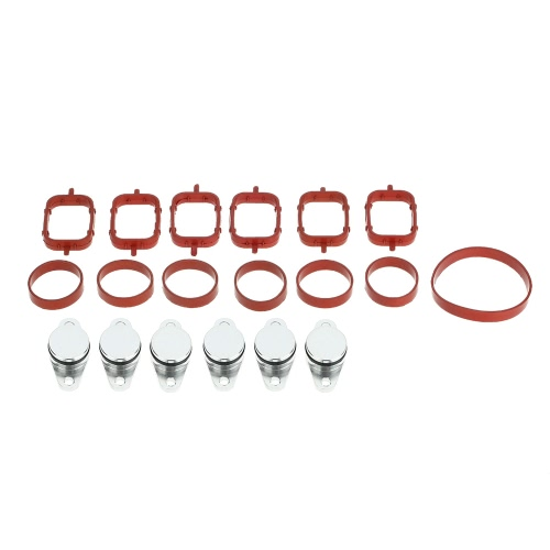 6 PCS 22mm Diesel Swirl Flap Blanks de bondes remplacement avec admission Gaskets Manifold pour BMW 320d 330d 520d 525d 530d 730d