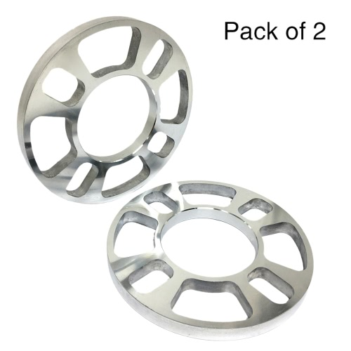 Tirol 2Pcs Universal Aluminum 4 Hole Disc Brake Spacer Kit 12mm Thick Wheel Spacer