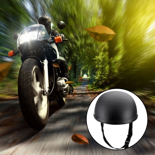 Motorcycle Half Open Face Helmet Matt Black Protection Shell Helmet for Scooter Bike